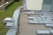 Terrasse en cours de réalisation en Brabant Wallon