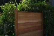 Installation d'une clôture en bois exotique
