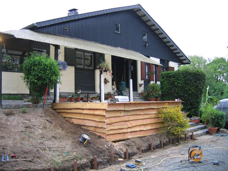 Construction terrasse bois terrasse en bois - Construction d une terrasse en bois sur pilotis ...