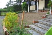 Emplacement où sera réalisé la terrasse en bois