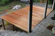 Aperçu de la terrasse en bois finalisée