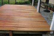 Réalisation du plancher de la terrasse en bois