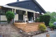 Vue globale de la réalisation de la terrasse en bois