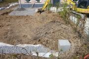 Vue sur la chambre de visite donnant accès au drain