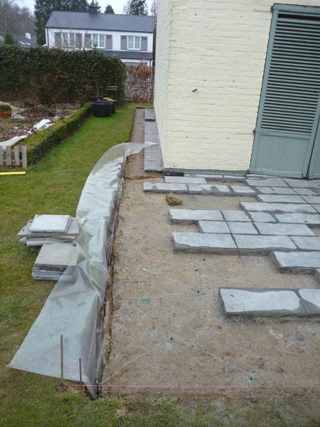 Am nagement de terrasse en brabant wallon laurent leroy for Entrepreneur jardin