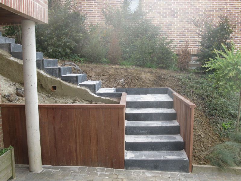 Am nagement ext rieur escalier et entr e laurent leroy for Architecte exterieur jardin