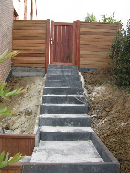 Am nagement ext rieur escalier et entr e laurent leroy for Amenagement exterieur allee garage