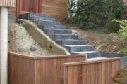 escalier en pierre bleue belge
