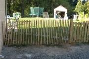 Pose de clôture en chataignier