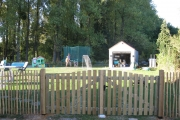 Installation d'un portail en bois