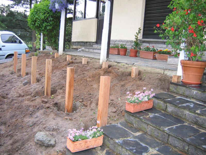 Construction d 39 une terrasse en bois braine le ch teau for Entrepreneur terrasse
