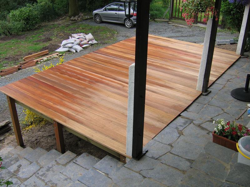 construction d 39 une terrasse en bois braine le ch teau laurent leroy architecte paysagiste. Black Bedroom Furniture Sets. Home Design Ideas