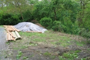 Apport du matériel pour la création de la terrasse en bois
