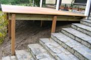 Préparation d'un cache pour terminer la terrasse en bois