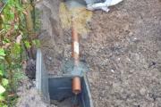 Vérification du fonctionnement après la pose du drain