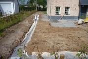 Aperçu global de la pose d'un drain